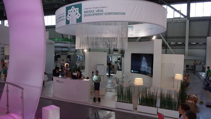 Middle Ural Development Corporation exhibition stand, 100 m2